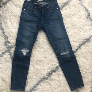 Madewell 9in High Rise Skinny Crop Jeans Sz 27